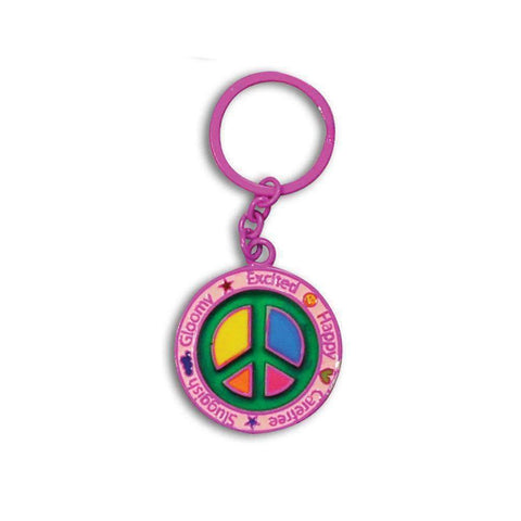Peace Car Keychain Pink Cheerful Mood Car Keychains New Car Gadgets