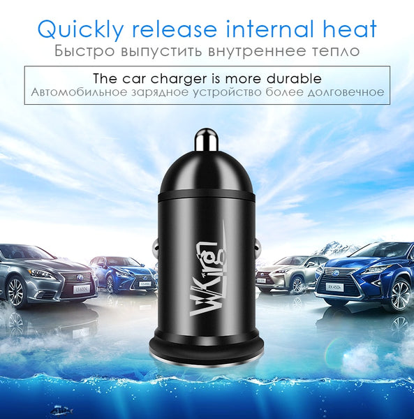 Mini Car Phone Charger Quick Charge 3.0 Amps Technology Car Phone Chargers New Car Gadgets
