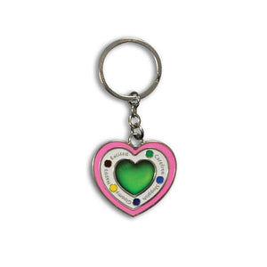 Pink Heart Car Keychain ( metal ) Car Keychains New Car Gadgets