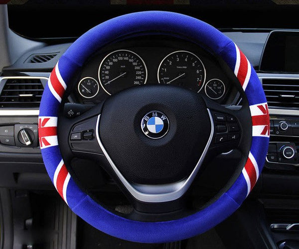 New England Flag Steering Wheel Cover (Warm plush Feel) Car Steering Wheel Covers New Car Gadgets