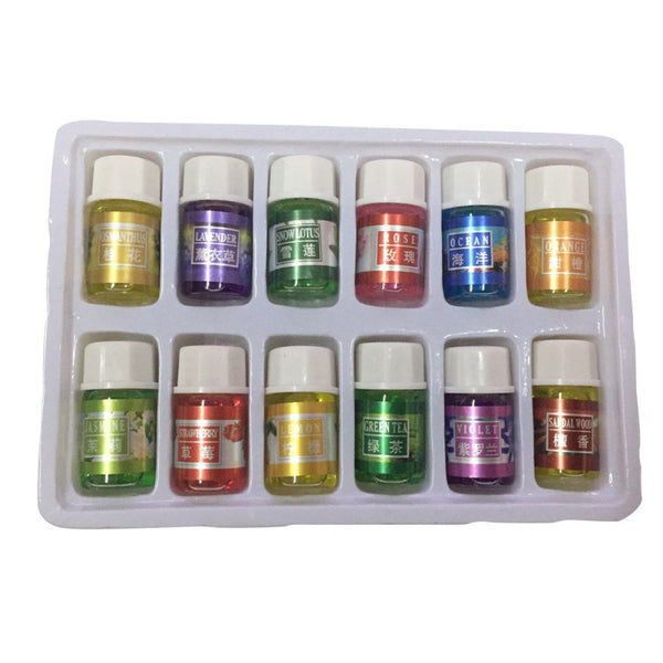 New Essential Oil Set (12 Pcs) For Air Fresheners and Humidifiers Car Air Fresheners New Car Gadgets
