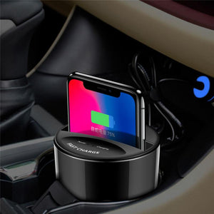 New X9 Car QI Wireless Charger For Apple or Android Mobile Phone Car Phone Chargers New Car Gadgets