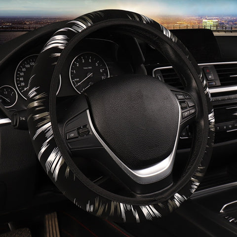 Striped Cloth Steering Wheel Cover Car Steering Wheel Covers New Car Gadgets