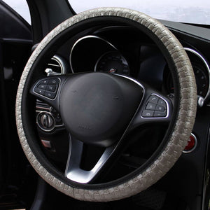 Snake Skin Car Steering Wheel Cover Elastic Touch Car Steering Wheel Covers New Car Gadgets