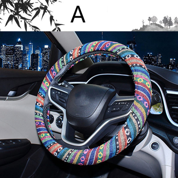 Colorful Steering Wheel Cover Tropical Stripes Colors Car Steering Wheel Covers New Car Gadgets