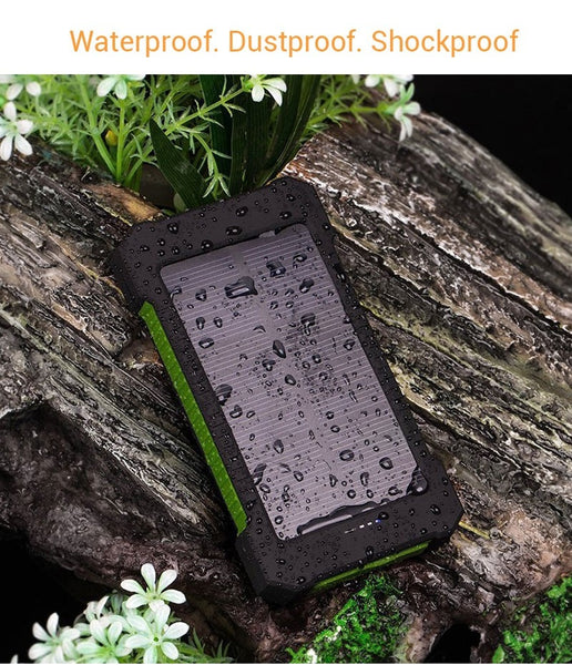 New Waterproof Solar Power Bank ( 30,000 mAh ) Perfect for Camping Camping Car Gadgets Accessories New Car Gadgets