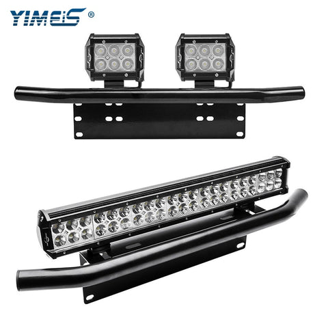 Car Front Bumper Spotlights with License Plate Mount Car Exterior Lighting New Car Gadgets