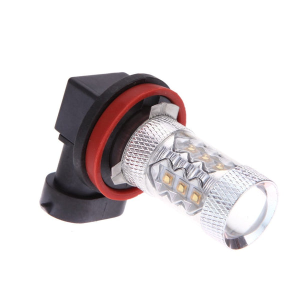 80w 16 LED Car Fog Light Bulbs Car Exterior Lighting New Car Gadgets