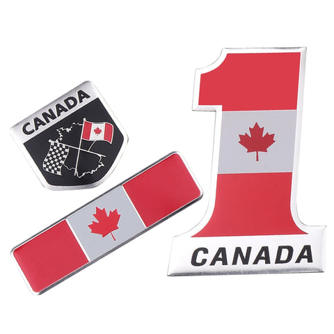 3D Aluminum Metal Canada National Flag Car Sticker Car Stickers Decals New Car Gadgets