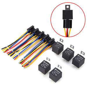 5 Set Durable Car Relays DC 12V 40A Car Relays New Car Gadgets
