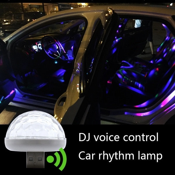 USB LED Lights for Cars Multiple Colors Rhythm Lamp Car Interior Lighting New Car Gadgets