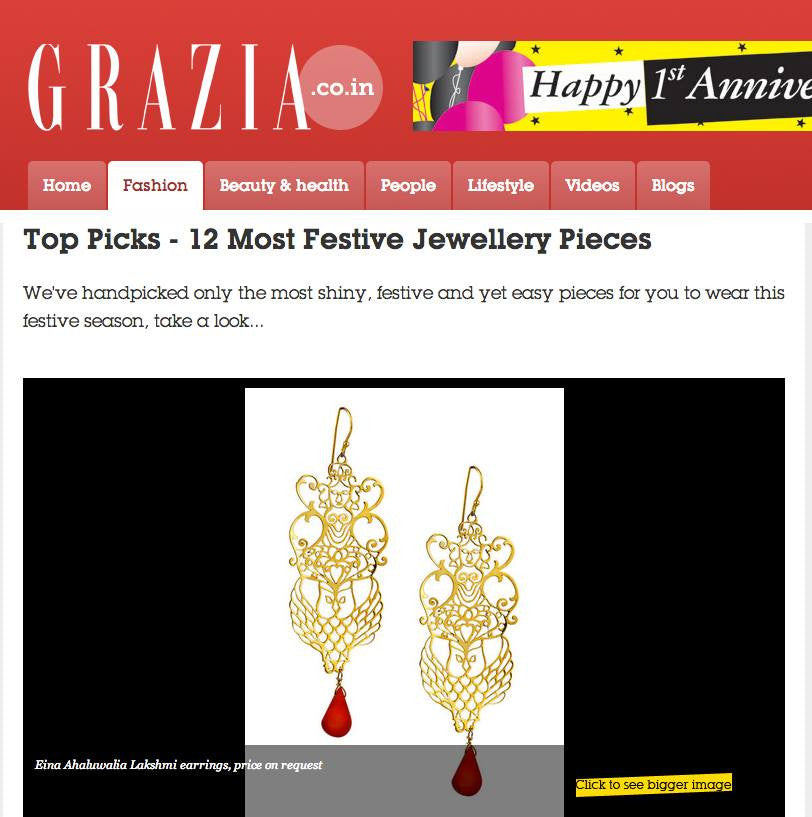 Product Feature - Lakshmi Earrings