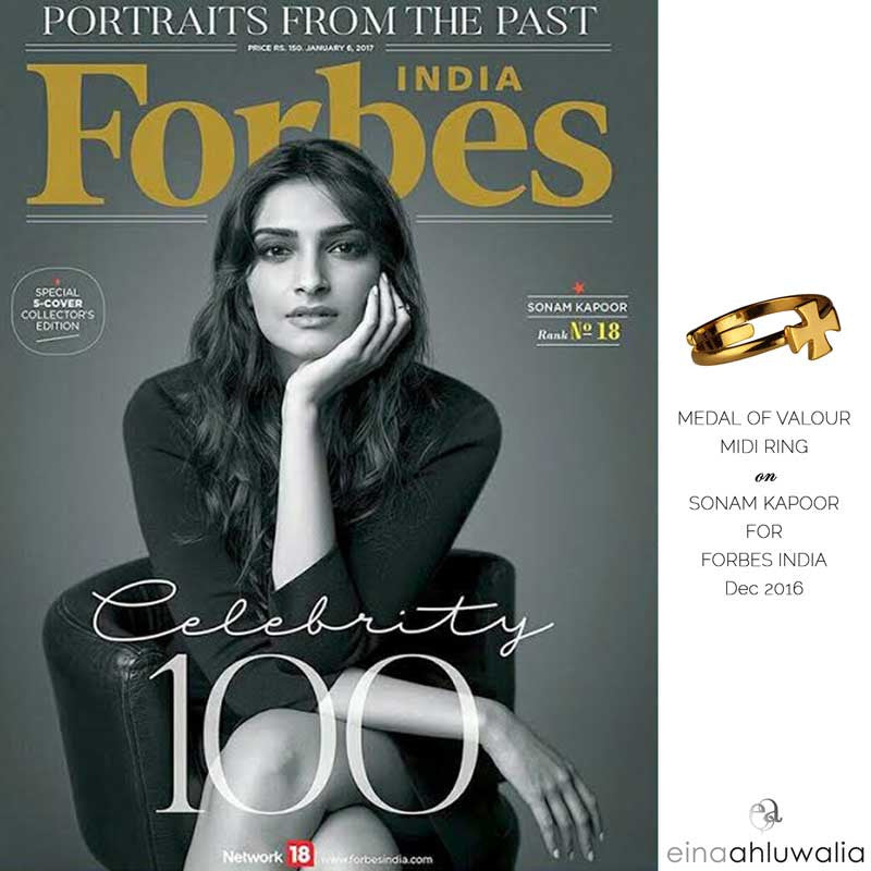 Medal of Valour Ring on Forbes cover - January 2017