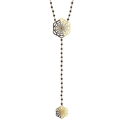 Lotus Fractal Lariat Necklace