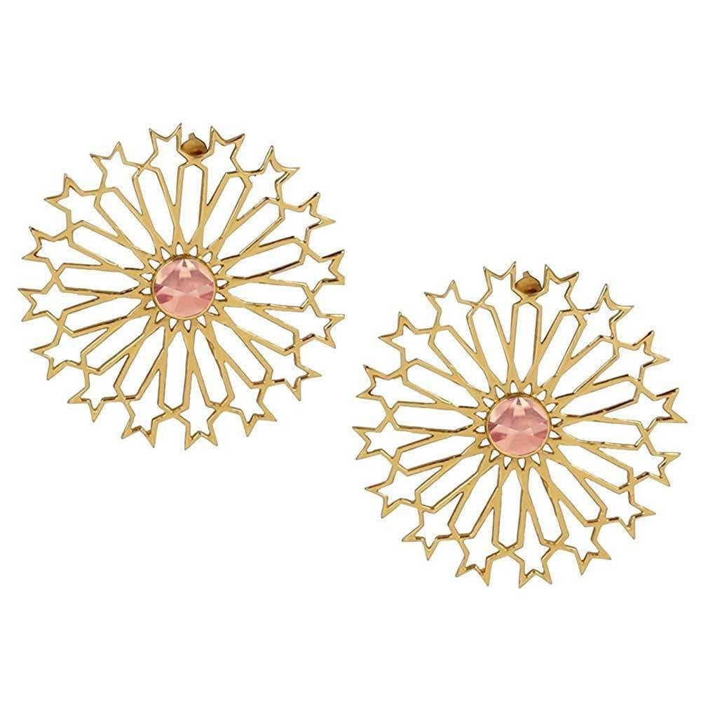Mughal Stud Earrings (Pink) - Confluence by Swarovski