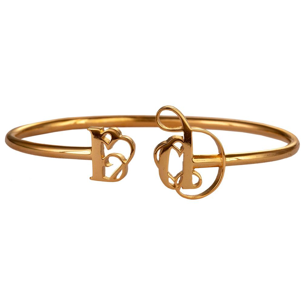 Name Bangle-Twist Style-English