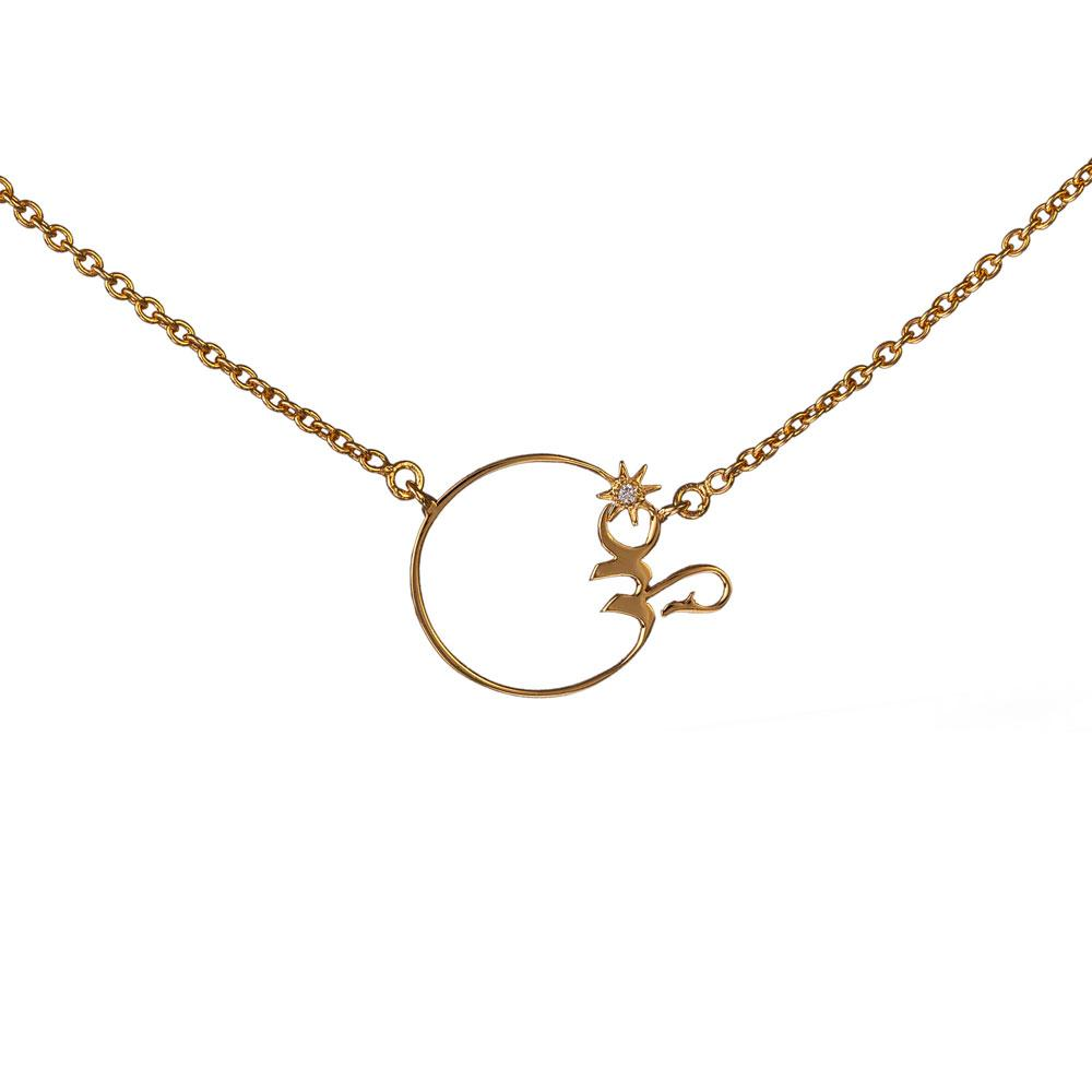 Om Necklace - Diamond