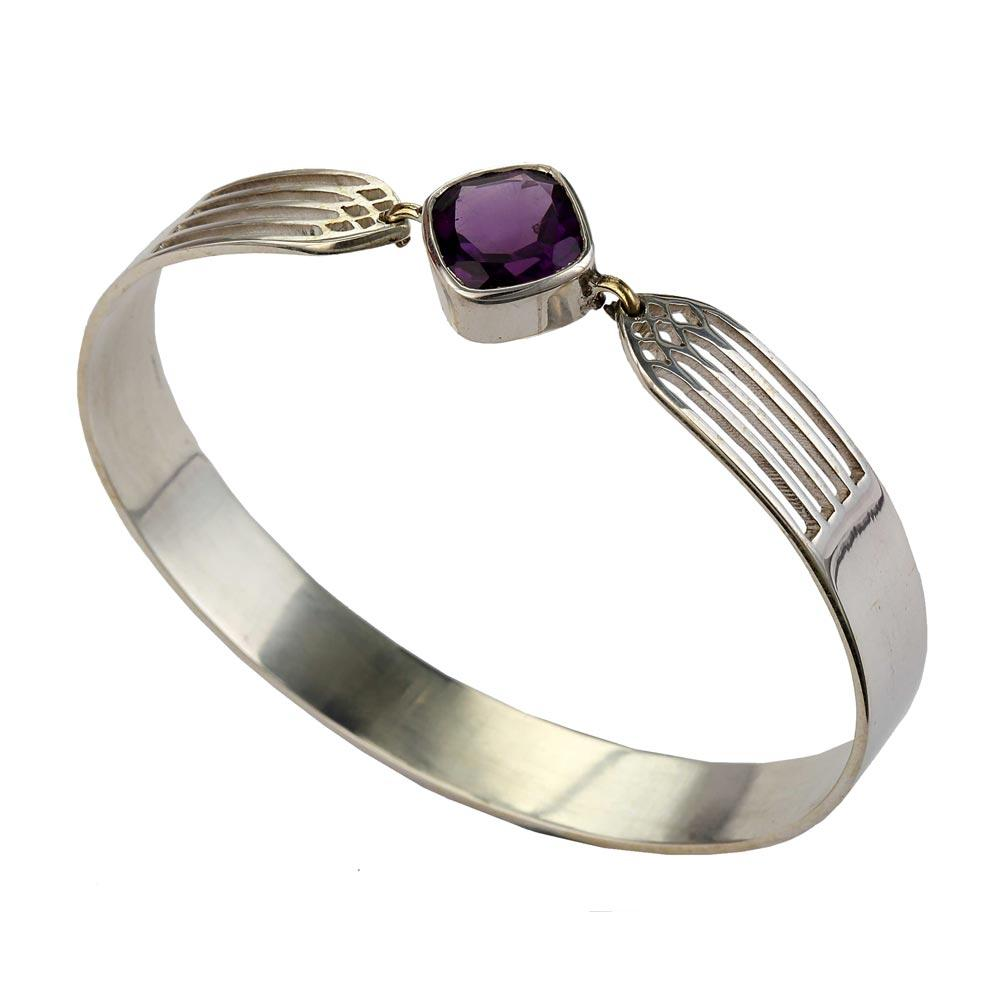 Transcend Bangle - Amethyst