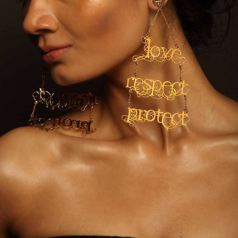 Love Respect Protect Earrings