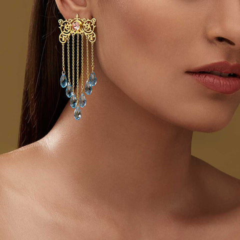 Awning Earrings - Confluence by Swarovski