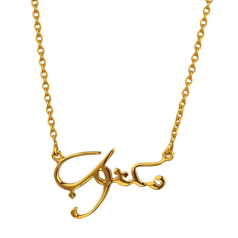 Maktub 'It's written' Necklace - Arabic (Available in 3 colours)