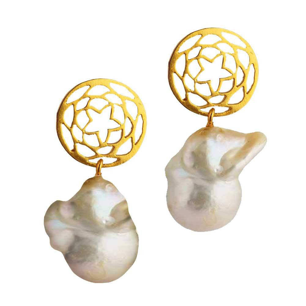 Path of Venus earrings with Baroque Pearl