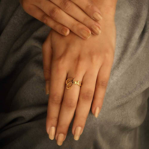 Maktub 'It's written' Ring - Arabic (Available in 3 colours)