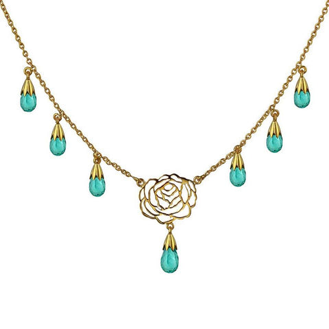 I Rose Necklace - Apatite