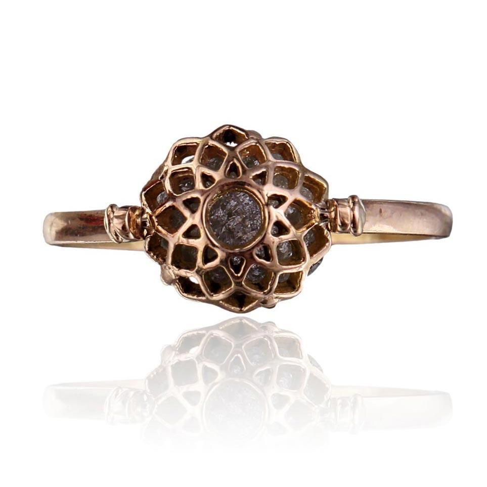 Miracle Ring - Reversible - Rough Diamond in 18K Rose Gold