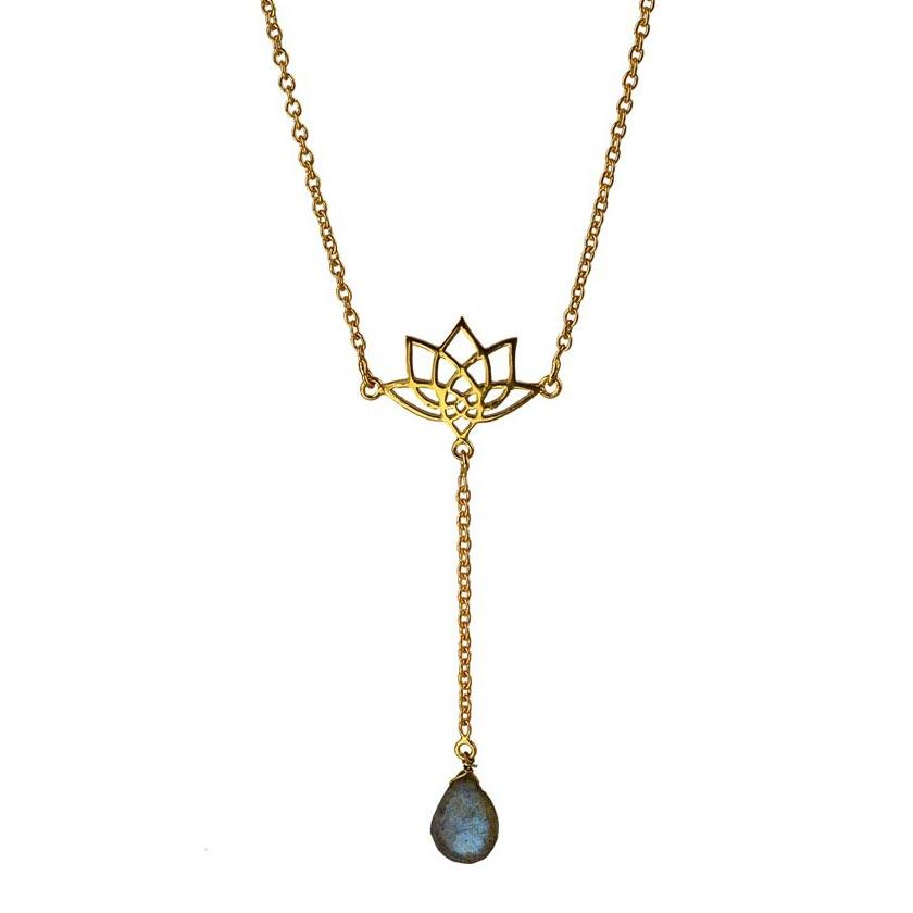 Enlight Lariat Necklace - Labradorite