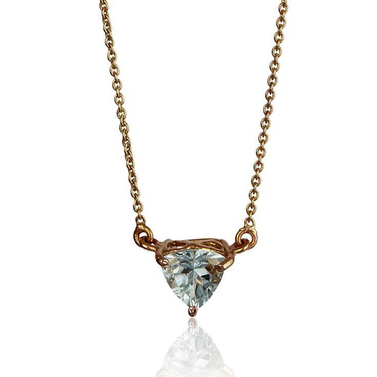 Co-create Necklace - Aquamarine in 18K Rose Gold