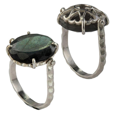 Synchronicity Ring - Reversible - Labradorite