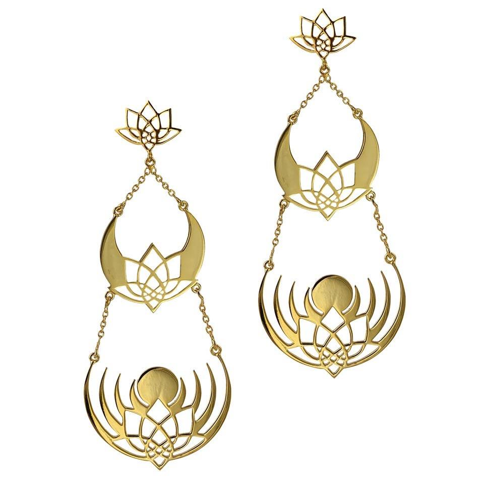 Crown of Selene Earrings - 3 layer Earrings