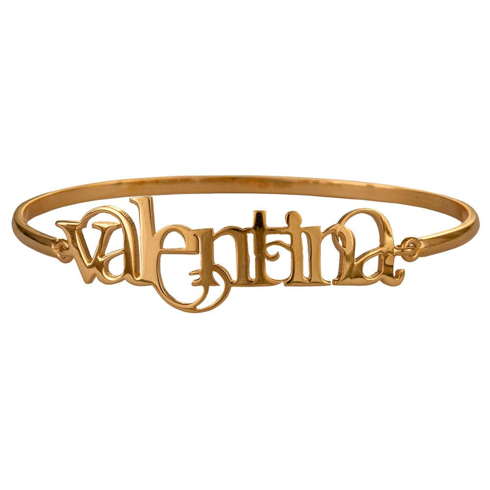 Name Bangle-Hinge Style-English