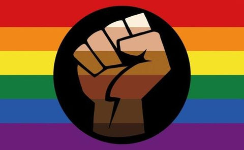 Resist Fist Rainbow Pride Flag 3' x 5'