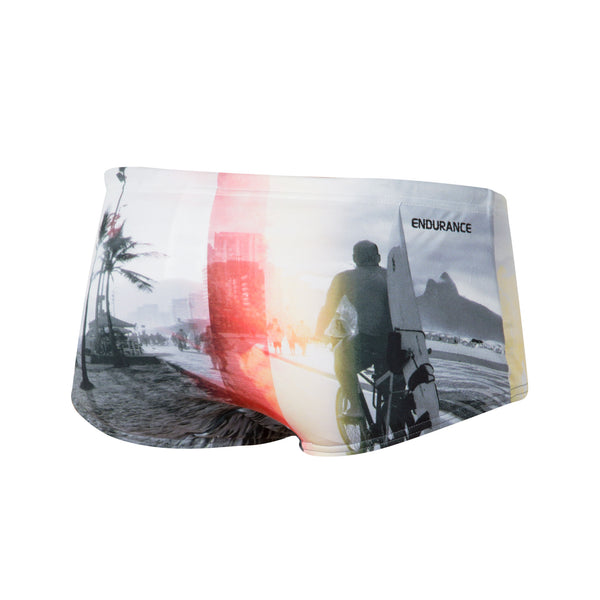 Speedo Mens Rio Retro Trunk Back View