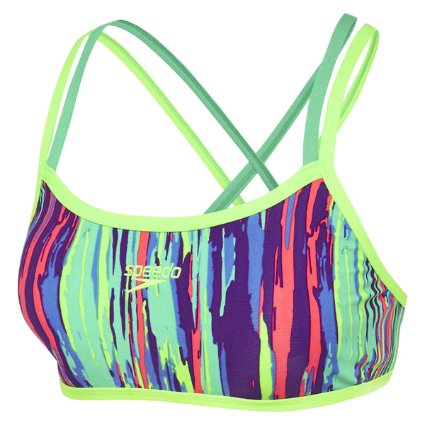 Speedo Rainbow Eucalyptus Crossback Crop Set Womens