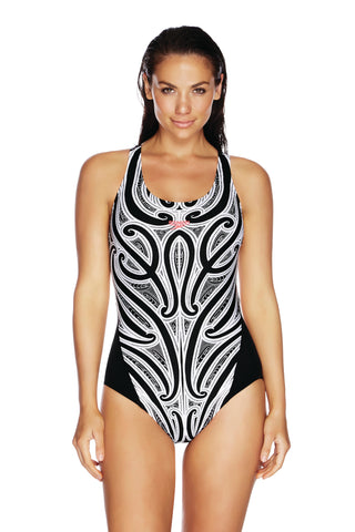 Speedo Tribal Legend Leaderback Womens One Piece
