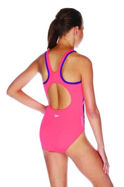 Speedo River Gum Muscleback One Piece Girls