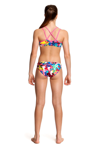 Funkita Splatterfied Criss Cross Two Piece Girls