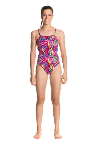 Funkita Crystal Clash Strapped in One Piece Girls