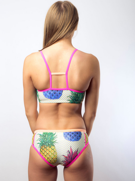Robb and Lulu Pineapple Pink Star Struck Womens Two Piece