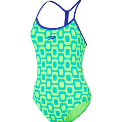 Speedo Acid Walk Rippleback Womens One Piece
