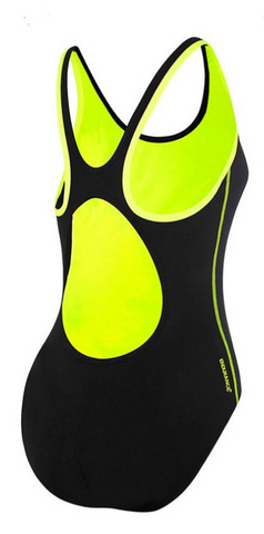 Speedo 3D Cubes Muscleback Womens One Piece