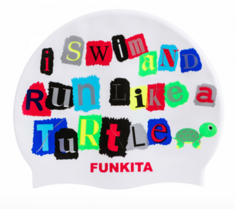 Funky Trunks Swim & Run Turtle Silicone Caps