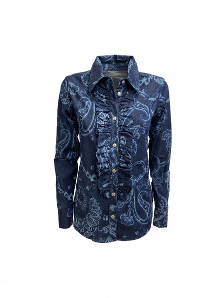 CAMICIA JEANS PAISLEY