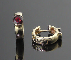 Earrings, Garnet (Pyrope)