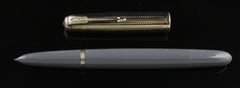 Parker, 51 Fountain Pen, Grey with Gold Fill Cap - VP4382