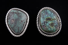 Jewelry, Earrings, Sterling Silver & Chrysocolla