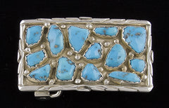 Jewelry, Buckle, Sterling Silver & Turquoise (Native American)